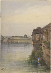 The river and ghat at Sarkhej, near Ahmadabad. 27 November 1874